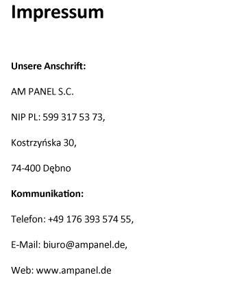 Impressum - Zaeune-oranienburg.de